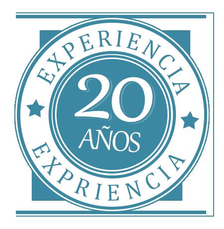 Más de 20 años de experiencia.